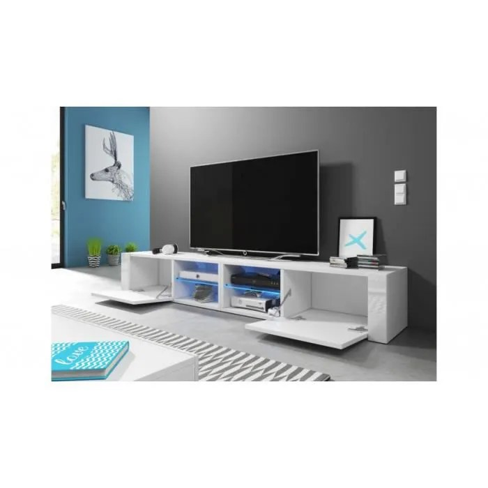 meuble tv best 200 cm laque blanc