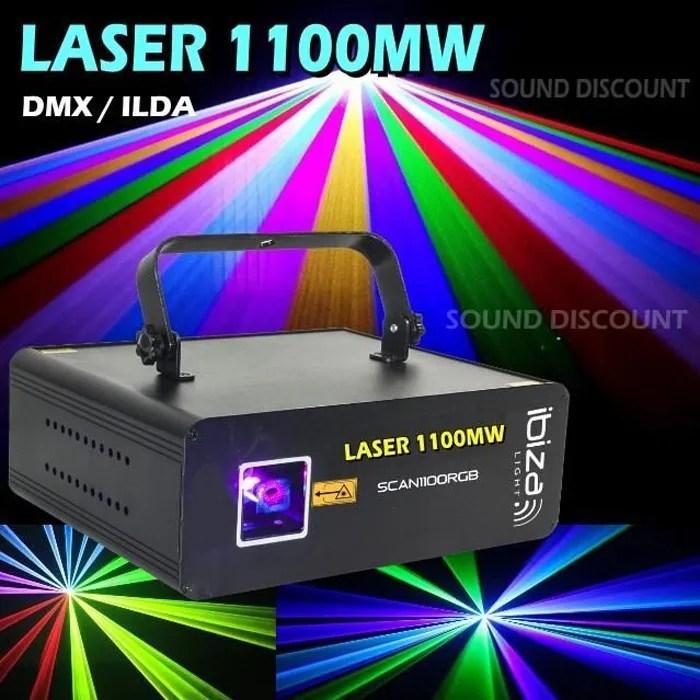 laser jeux de lumiere puissant scan1100rgb 1100mw