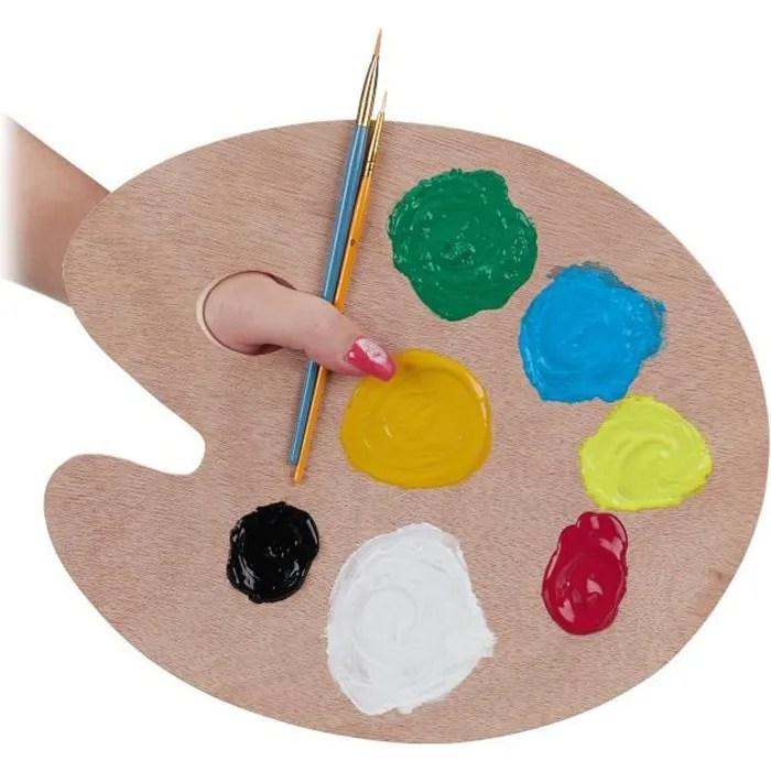 Relaxdays Palette De Peinture En Bois Palette De Melange Avec Trou Palette Pour Artistes Couleur Naturelle 4052025926205 Cdiscount Beaux Arts Et Loisirs Creatifs