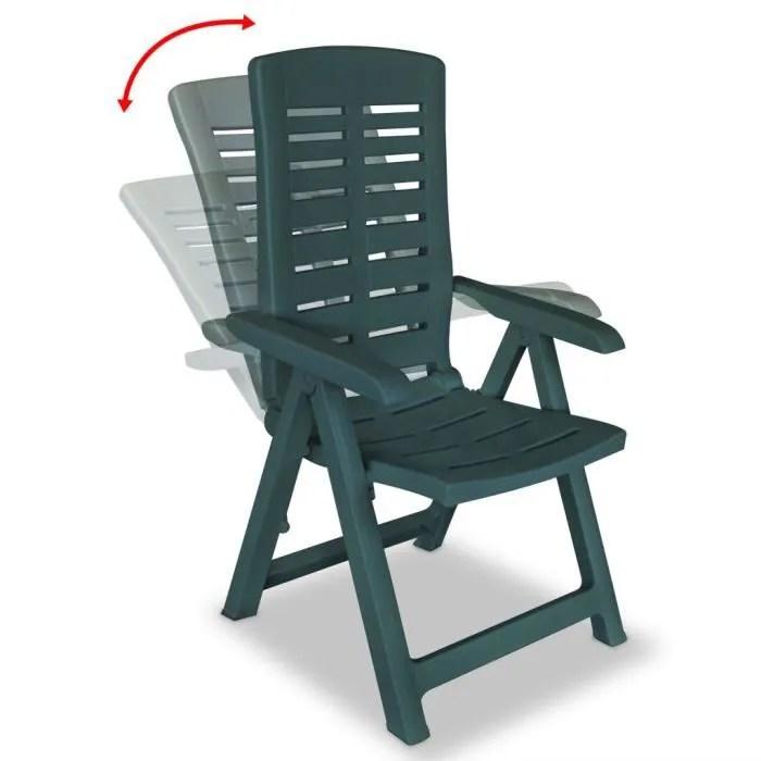 fauteuil de jardin plastique vert