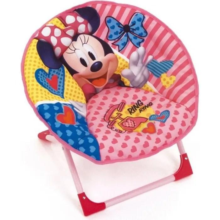disney fauteuil rond pliable minnie mouse pour enf