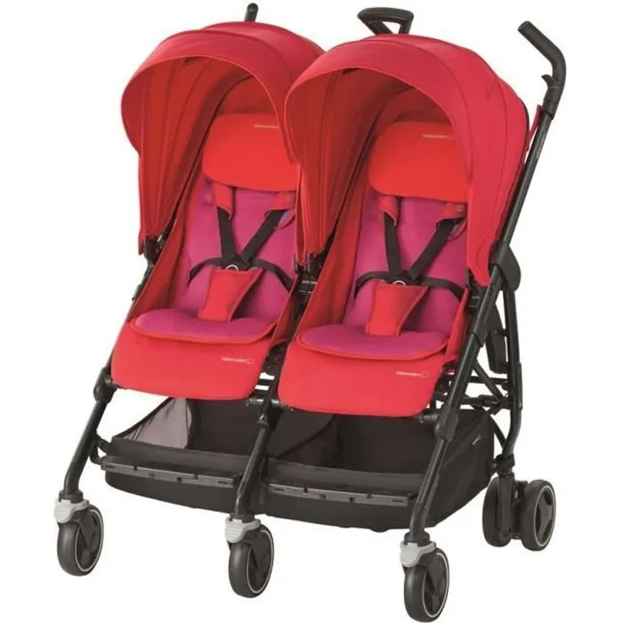 bebe confort poussette canne double dana for 2 red orchid