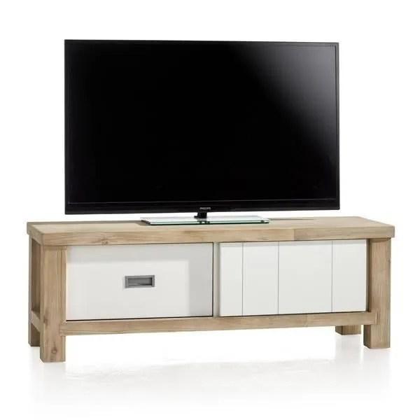 meuble tv 130 cm acacia massif istrana