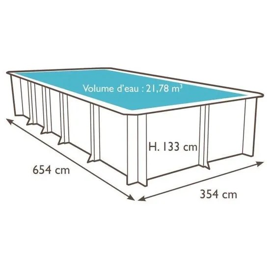 weva piscine bois rectangle 6x3 m
