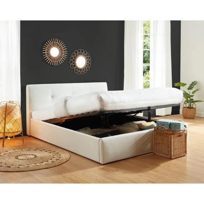 lit adulte complet avec sommier et matelas 160 x 200