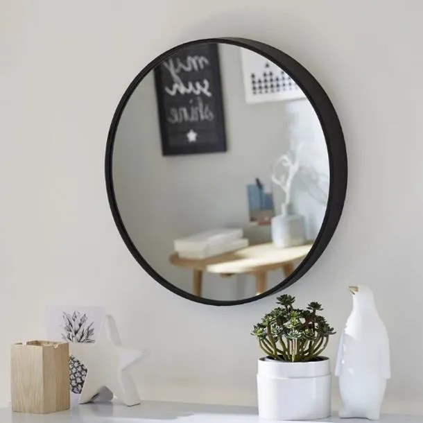 Miroir Barbier Rond Effet De Profondeur 30cm Achat Vente Miroir Cdiscount