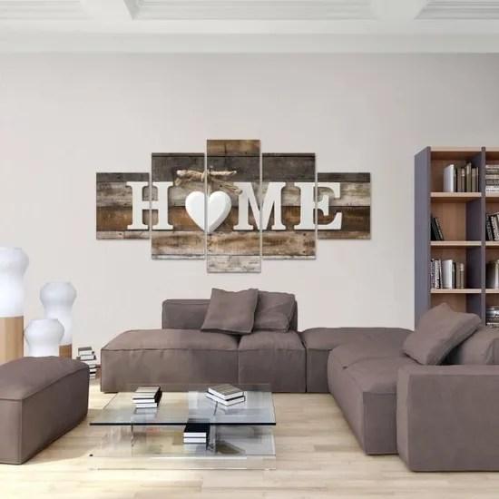 tableau decoration murale bois maison 200 x 100 cm xxl impression sur toile salon appartment marron pret a accrocher 014751b
