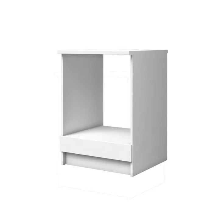extra meuble bas four l 60cm blanc mat