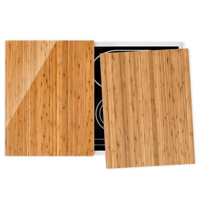 couvre plaque de cuisson bamboo