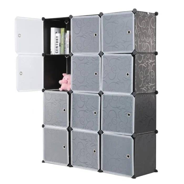 armoires etageres plastique 12 cubes meuble rangement chambre enfants bebes