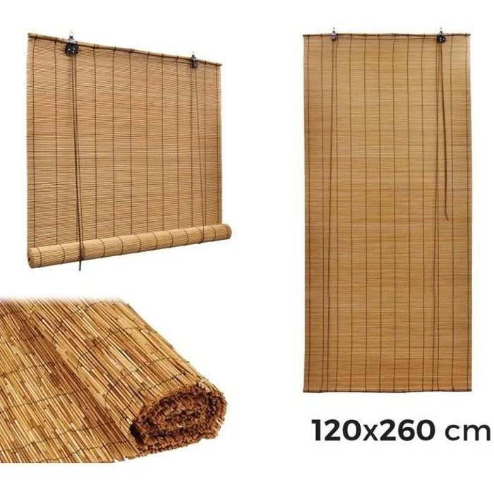 202463 Store En Bambou Arella Avec Poulie Impermeables 120 X 260 Cm Achat Vente Store De Fenetre Cdiscount