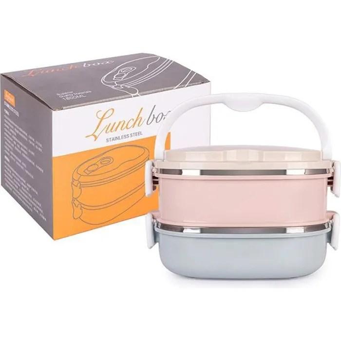 boite pour dejeune lunch box bento lunch box isotherme bento japonais boite repas inox boite a dejeuner enfant 2 couches