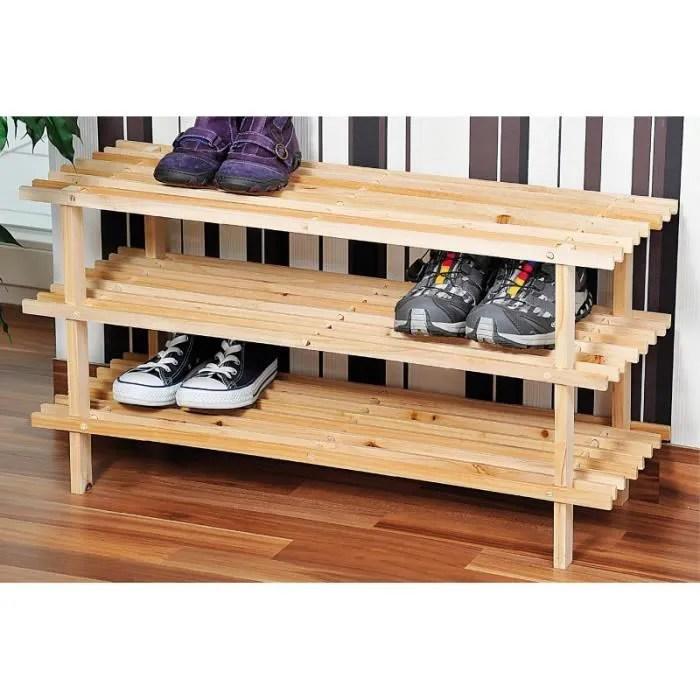 range chaussures bois 3 niveaux