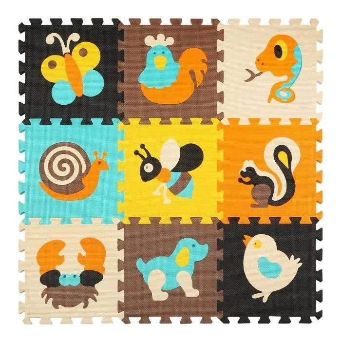 puzzle tapis mousse enfants jeu mat colore non tox