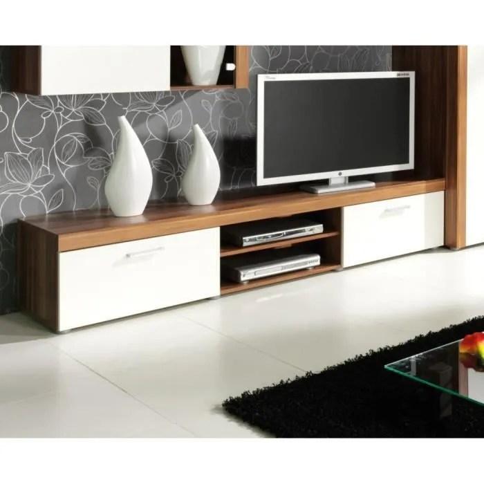 meuble tv contemporain samba beige l200 cm banc tv blanc meuble de salon