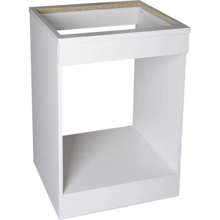 brandy best mpf60 b meuble bas de cuisine 60 cm blanc pour plaque et four