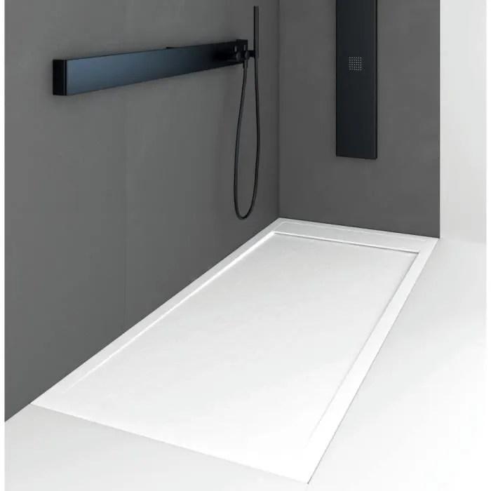 receveur de douche 80 x 100 cm extra plat quore en