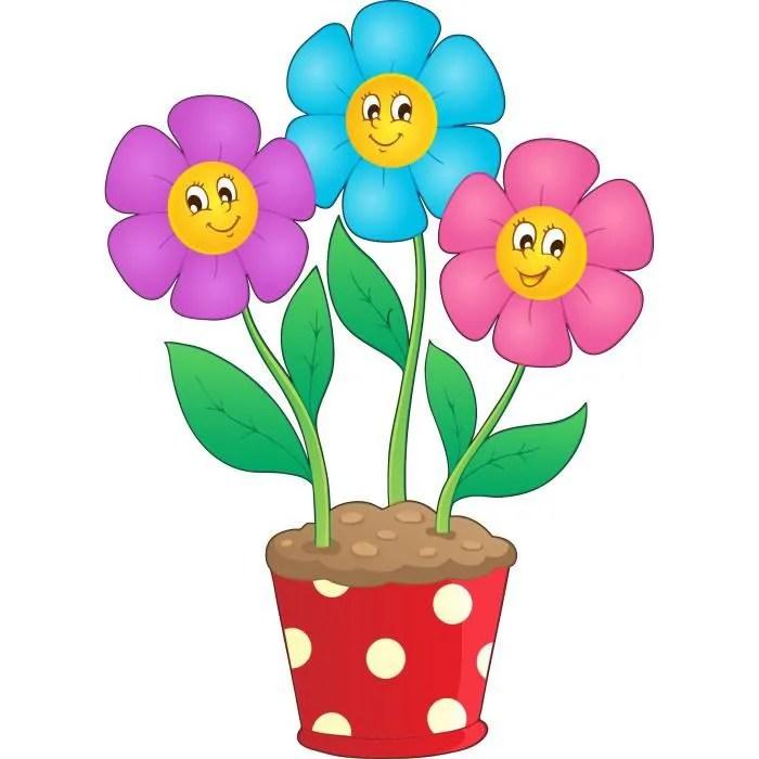 stickers enfant pot de fleurs hauteur hauteur 10