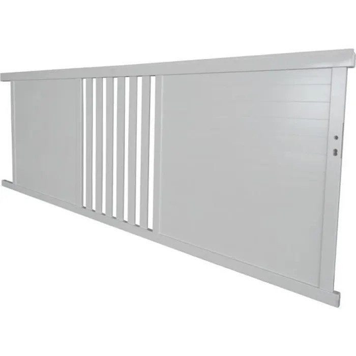 Portail Alu Coulissant Blanc 3 58m Sl07 Cdiscount Bricolage