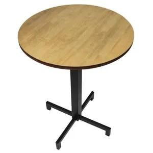 table ronde pied central avec rallonge
