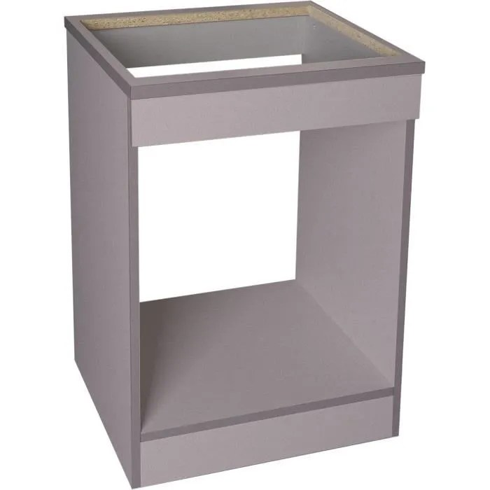 brandy best mpf60 s meuble bas de cuisine 60 cm gris argent pour plaque et four