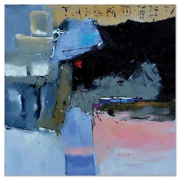 tableau contemporain bleu