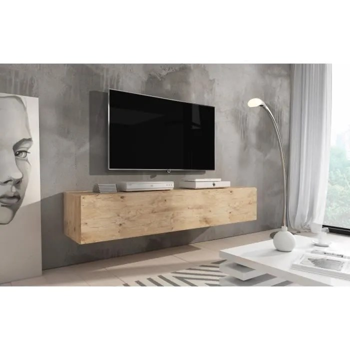 مذكرة الفأر يتظاهر meuble tv suspendu bois amazon