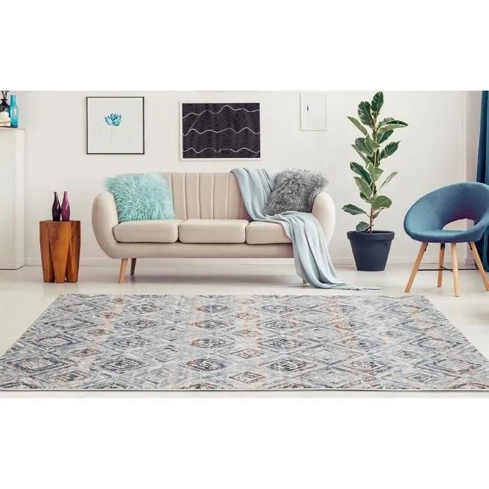 tapis losange bleu