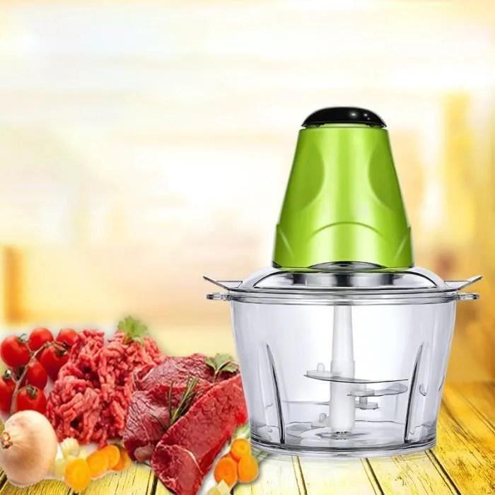 king hachoir electrique mixeur 2l avec 4 lames en acier inoxydable multifonction moulin a viande pour coupe oignon verbe et viand