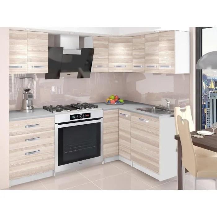 Darcia Cuisine Complete D Angle Modulaire L 300 Cm 8pcs Plan De Travail Inclus Meubles Cuisine Aspect Bois Wenge Cdiscount Maison