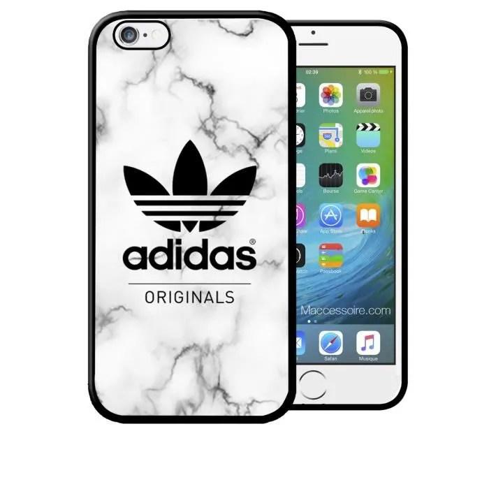 coque iphone 7 plus adidas original fond marbre sport logo swag neuf sous blister