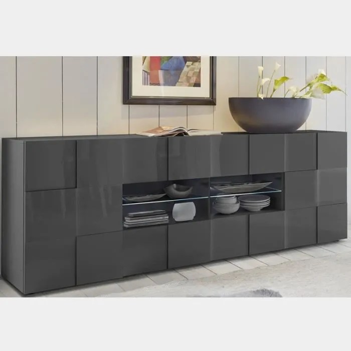 bahut design laque gris anthracite