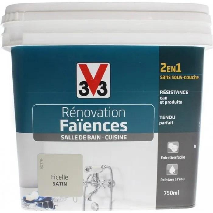 Peinture Ficelle Satin Renovation Faience V33 750ml Gris 0 000000 Cdiscount Bricolage
