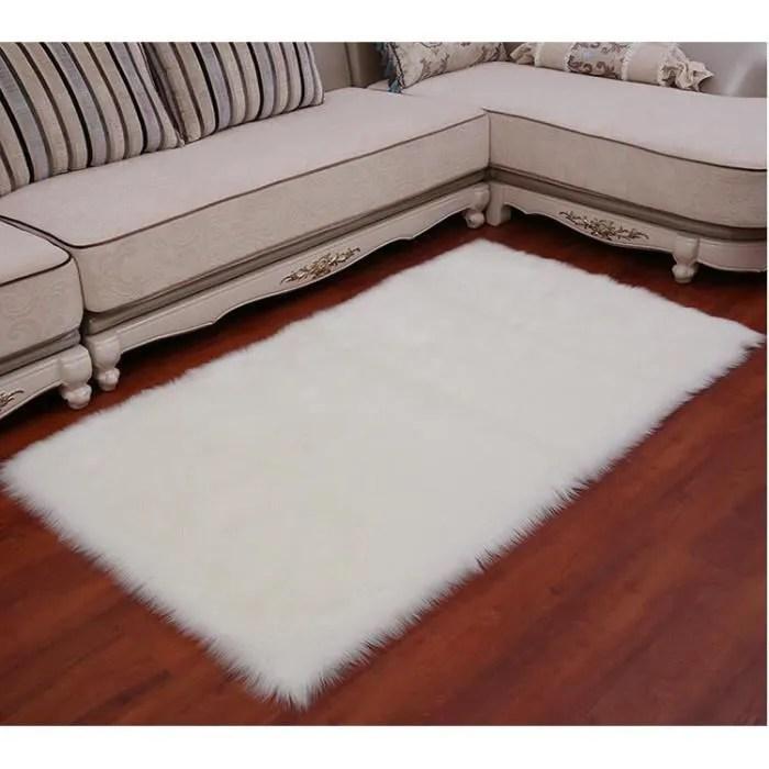 tapis salon shaggy anti derapage 60x90 cm bl