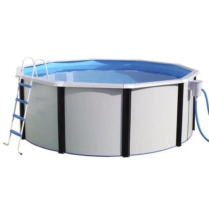 elegance piscine ronde en acier 550x120cm