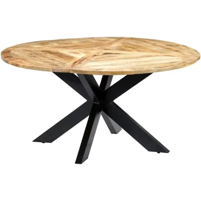 table a manger rond 6 a 8 personnes style indust