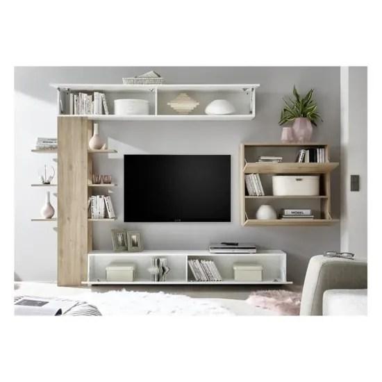 ensemble meuble tv celio chene 295 cm