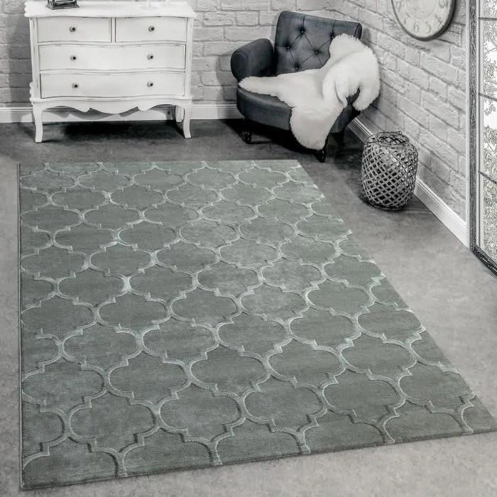 tapis createur moderne motif marocain structure 3d