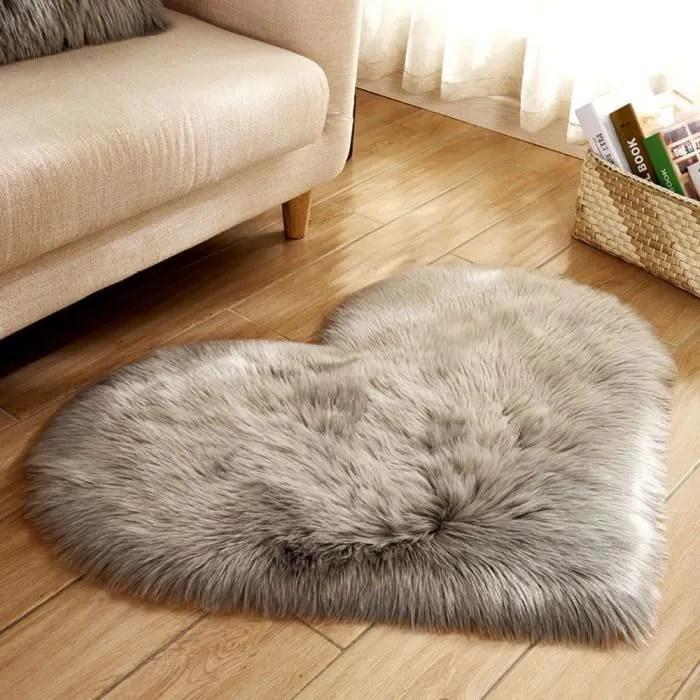 laine imitation peau de mouton tapis en fausse fou