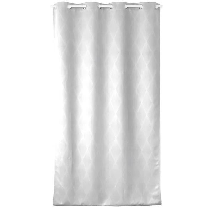 tons 8 oeillets blanc 140 x 240 cm
