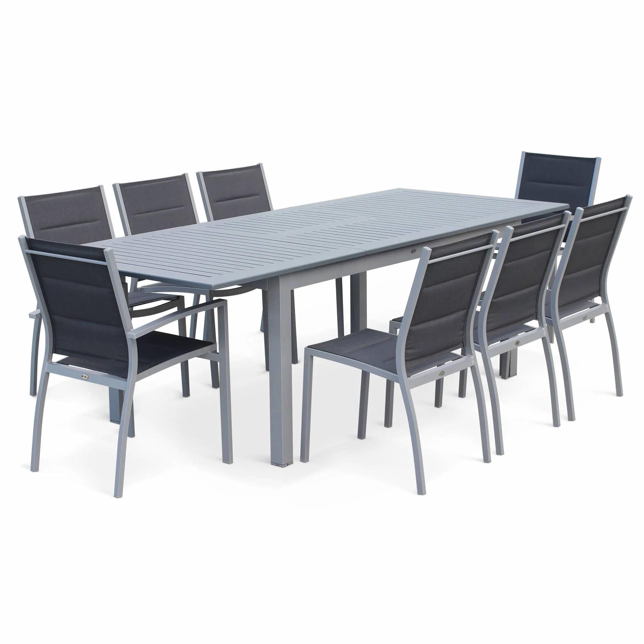 salon de jardin 8 places table a