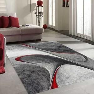tapis de salon rouge cdiscount maison