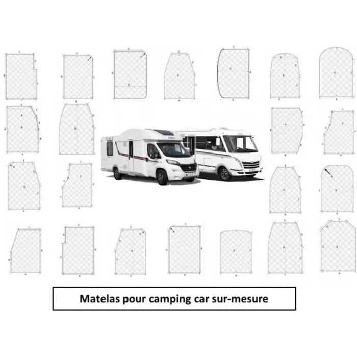 matelas pour camping car memoire de forme sur mesu