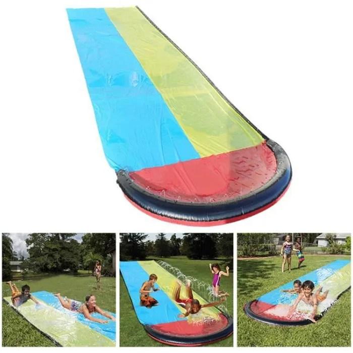 tapis de glisse toboggans aquatiques double tobogg