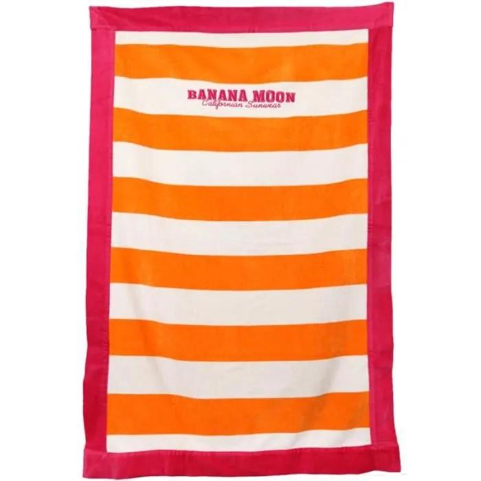 Drap De Plage Banana Moon Towely Fergie Orange Et Rose Couleurs Orange Tailles Tu Cdiscount Maison