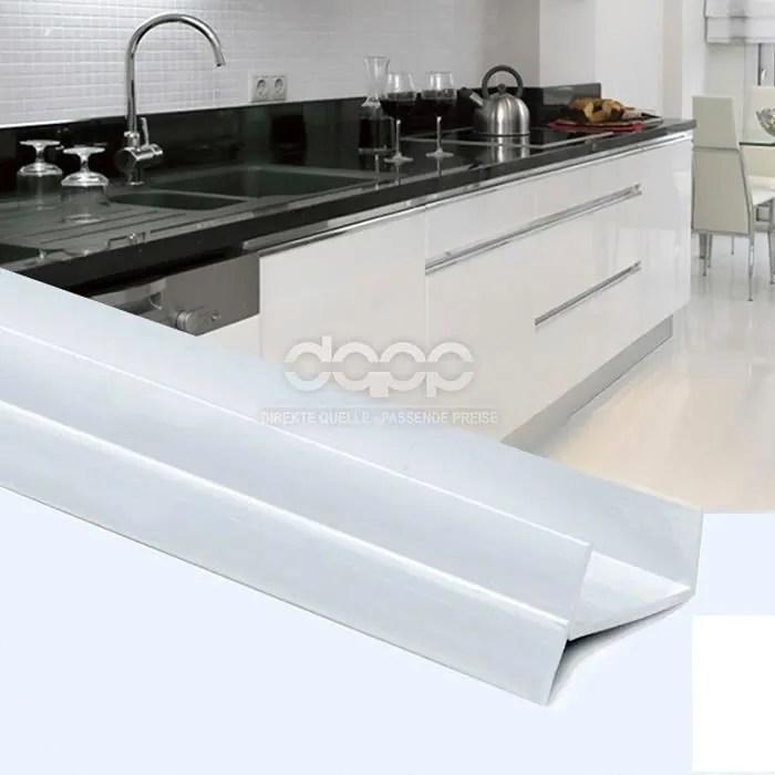 1 5m pvc bavette de plinthe 18mm blanc cuisine planche mdf beaucoup de couleurs et de tailles