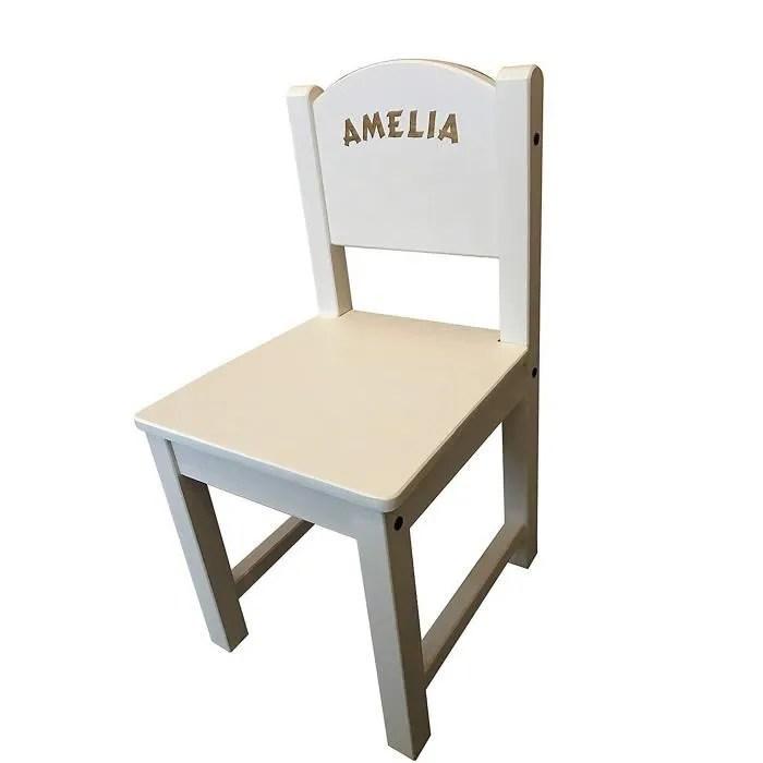 coffret multi jeux yfabg chaise en bois blanche personnalisee ikea gravee du nom de votre choix cadeau ideal souvenir pour la famill
