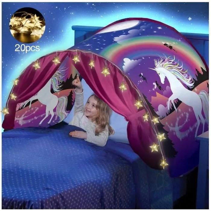 tente de lit enfant garcon fille princesse lit reve pop up ciels lit playhouse interieur tent avec lumieres led
