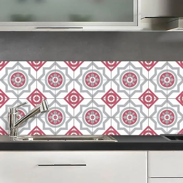 credence adhesive moscou rouge 40x100 cm