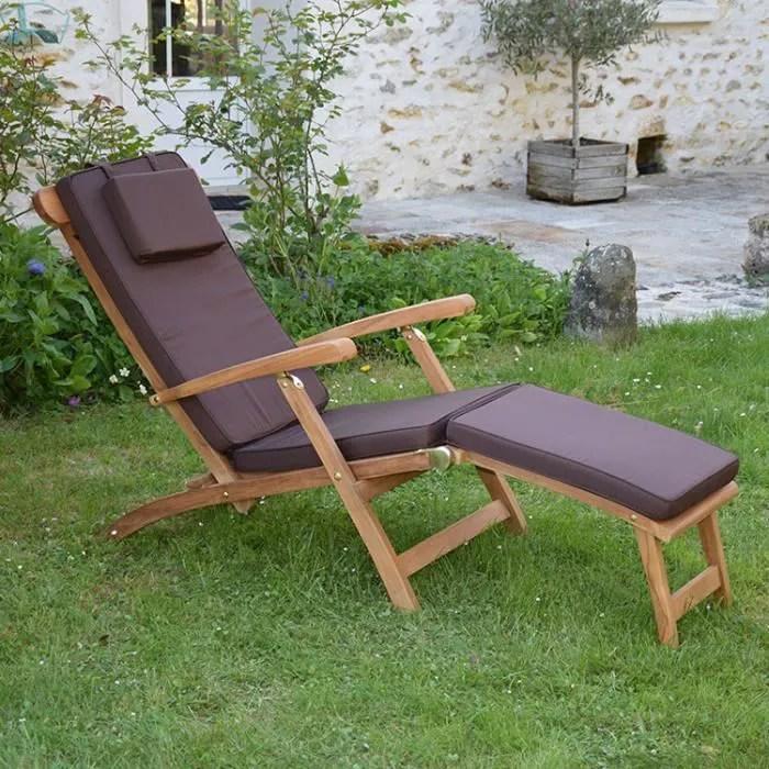 matelas chocolat pour chaise longue